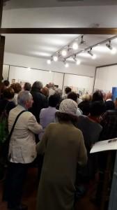 Pubblico alla inaugurazione