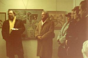 """Galleria """"Donatello"""" Padova - presentazione mostra """"Generazioni a confronto - Mario e Ludovico De Luigi"""" con il critico d'arte Giorgio Segato e l'artista Ludovico De Luigi"""